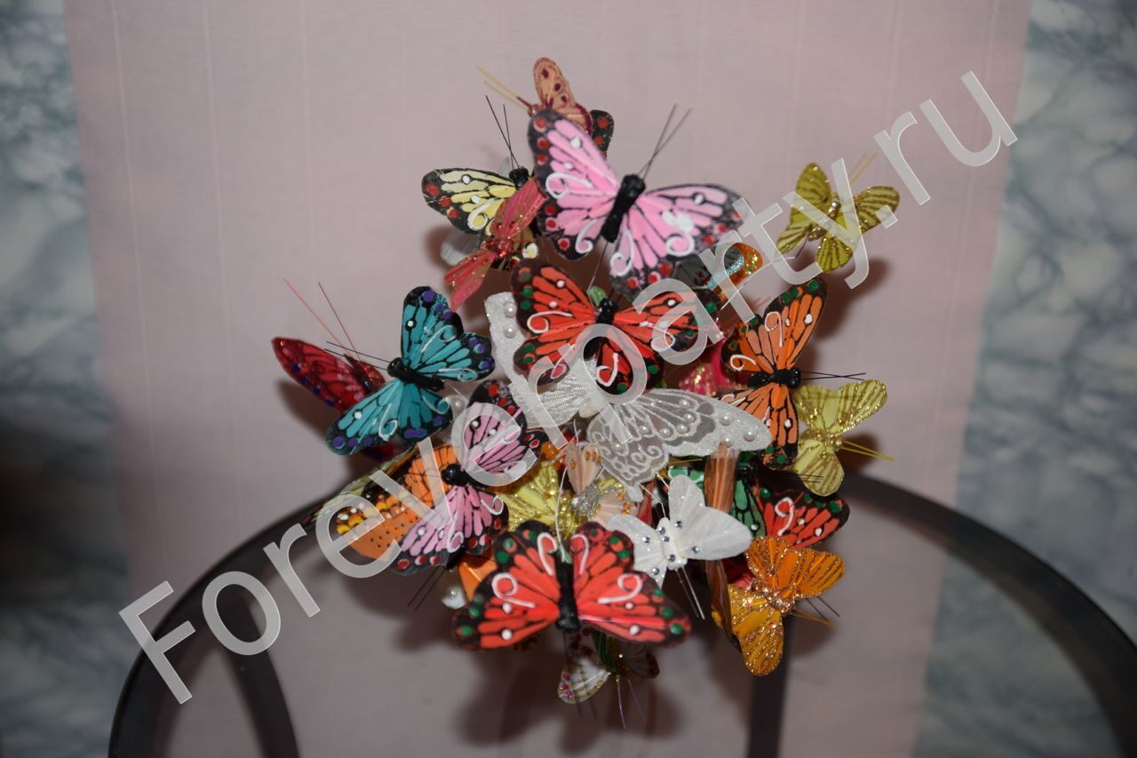 Букет из бабочек своими руками 31