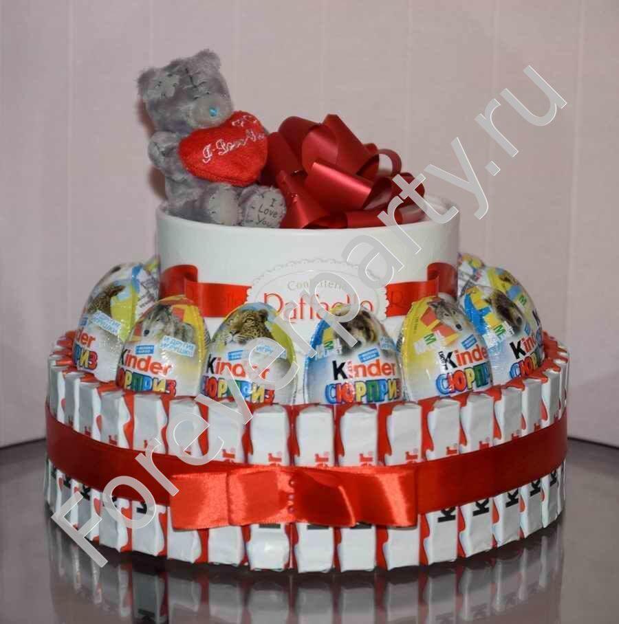 Торт из конфет из киндер и конфет своими руками фото 592