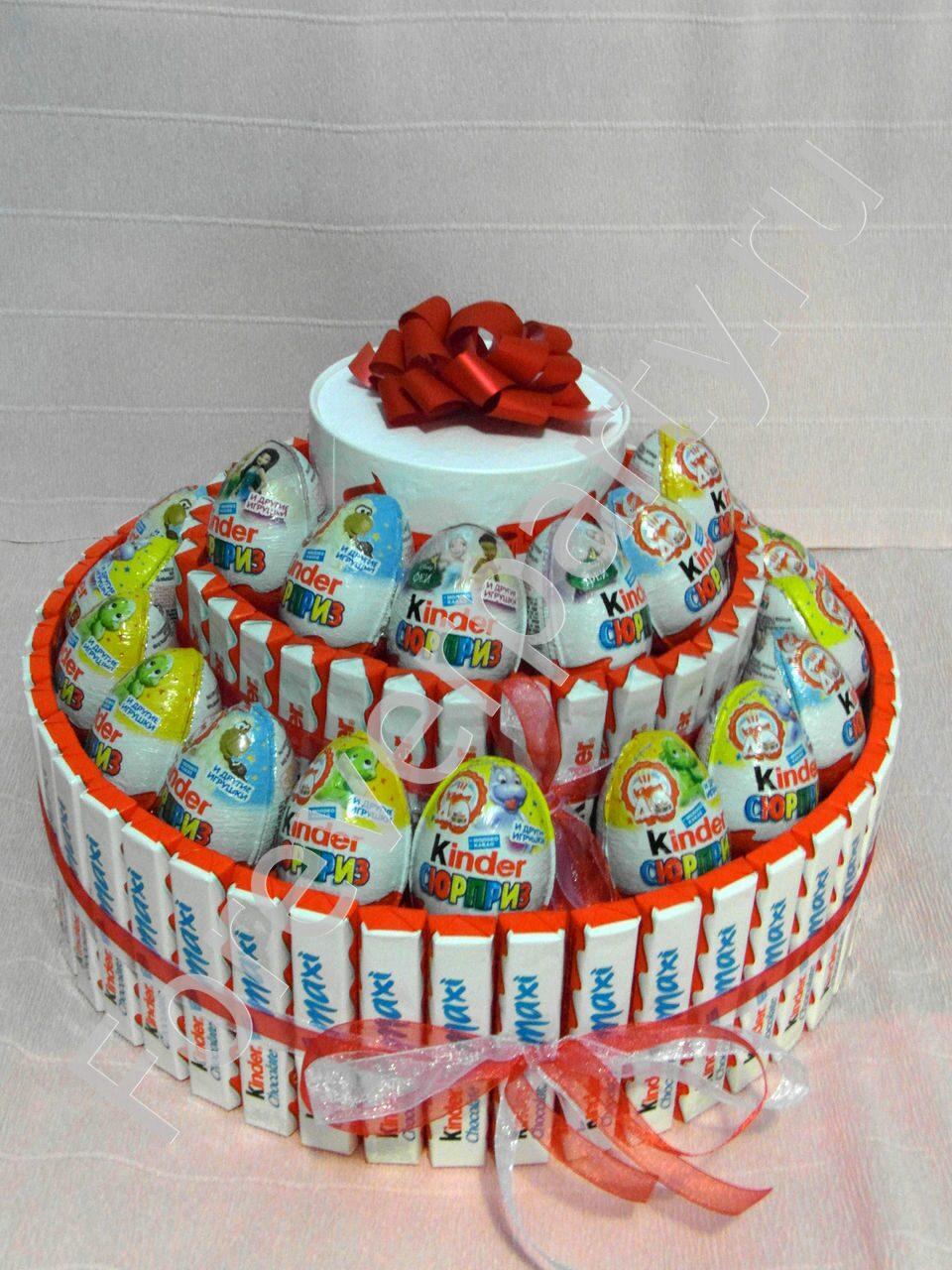 Как сделать торт с подарками
