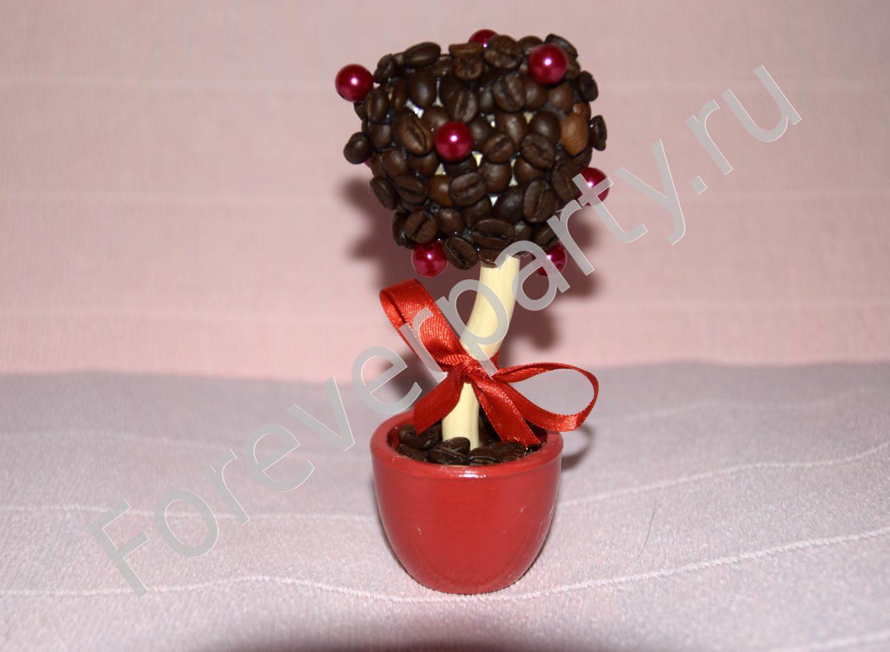 Топиарий из кофе сердце пошаговое фото