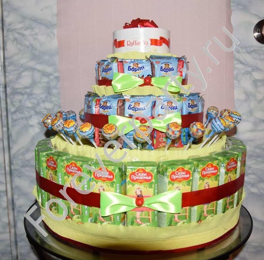 Как сделать торт из барни для детского сада