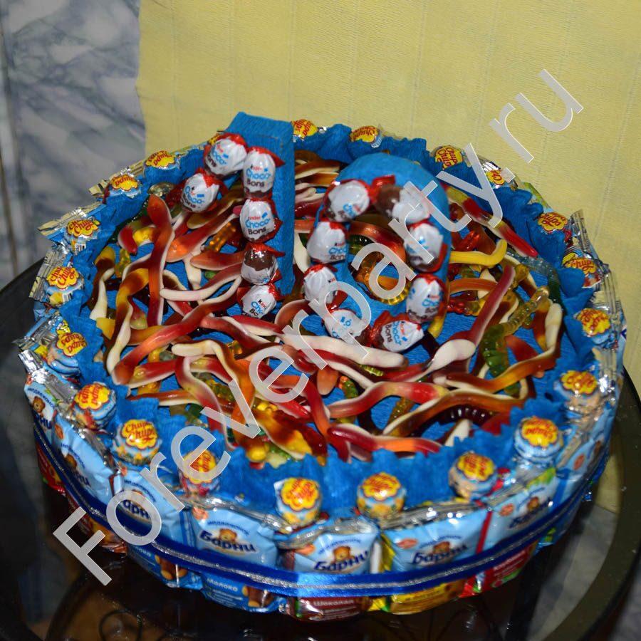 Торт из чупа чупсов пошаговое фото