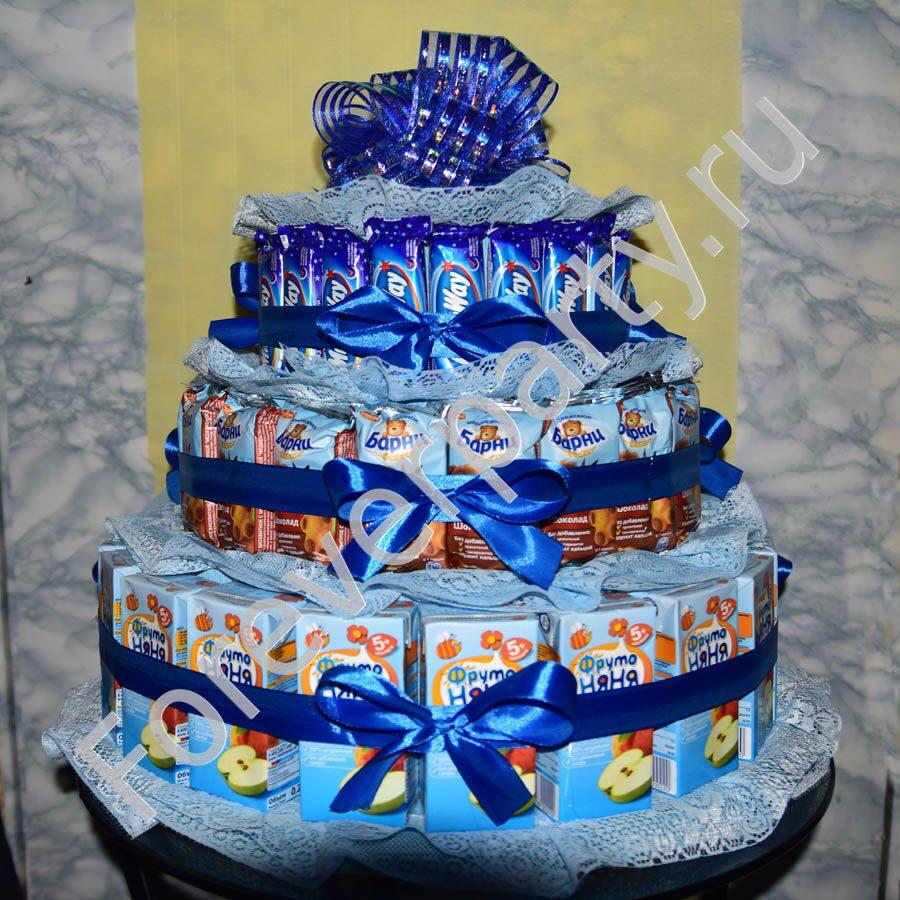 Торт из конфет и сока своими руками пошаговое 18