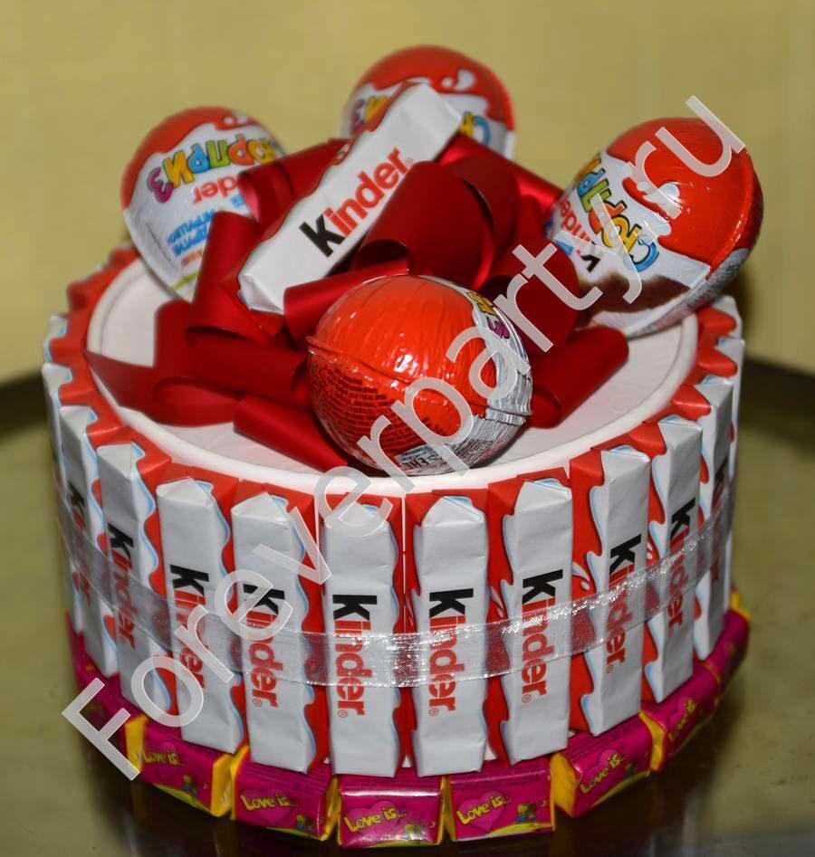 Подарки из сладостей торт 701